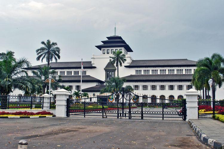 Landmark Gedung Sate di Bandung.
