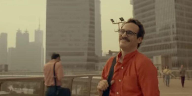 Salah satu cuplikan film H.E.R ketika Theodore tengah jatuh cinta kepada program AI, Samantha.