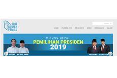 'Quick Count' Charta Politika Data 70,69 Persen: Jokowi-Ma'ruf 54,76 Persen, Prabowo-Sandiaga 45,24 Persen