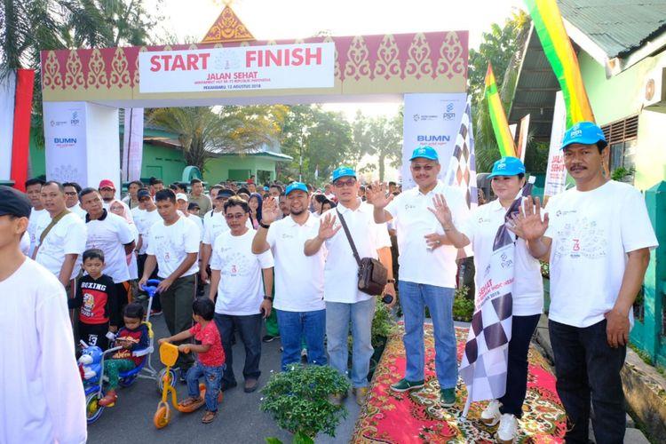 PGN Ajak Masyarakat Pekanbaru Berolahraga Sambil Bersihkan Lingkungan