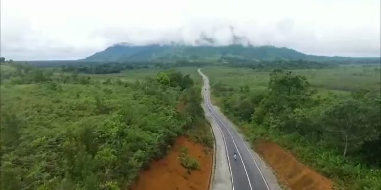 Salah satu jalur yang akan dilewati rute Bersepeda di Jantung Borneo yang akan diselenggarakan pada 28 Oktober 2017.