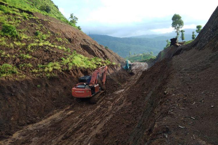 Kondisi medan proyek Sabuk Merah Perbatasan, NTT.