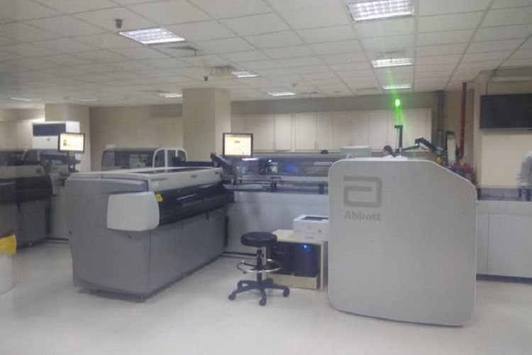 Total Lab Automation, kerjasama Abbot dan Prodia untu laboratorium kimia dan hematologi.