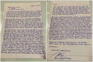 Via Surat Ahok Minta Maaf dan Bersyukur Tak Terpilih Lagi pada Pilkada DKI