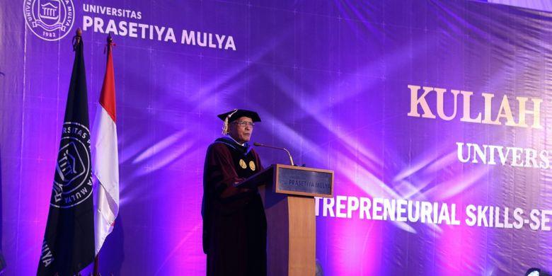 Prof. Djisman Simandjuntak, Rektor Universitas Prasmul.