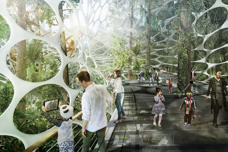 Tempat ini rencananya akan dibangun seluas 110 kali lebih besar dibanding Disneyland.