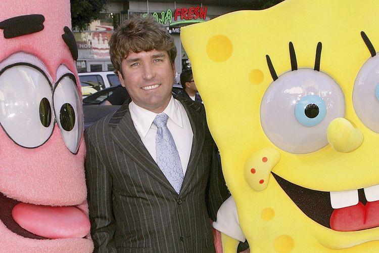 Sutradara dan kreator Spongebob SquarePants Stephen Hillenburg menghadiri pemutaran perdana film The Spongebob Squarepants Movie di Graumans Chinese Theatre. Los Angeles, California, pada 14 November 2014.