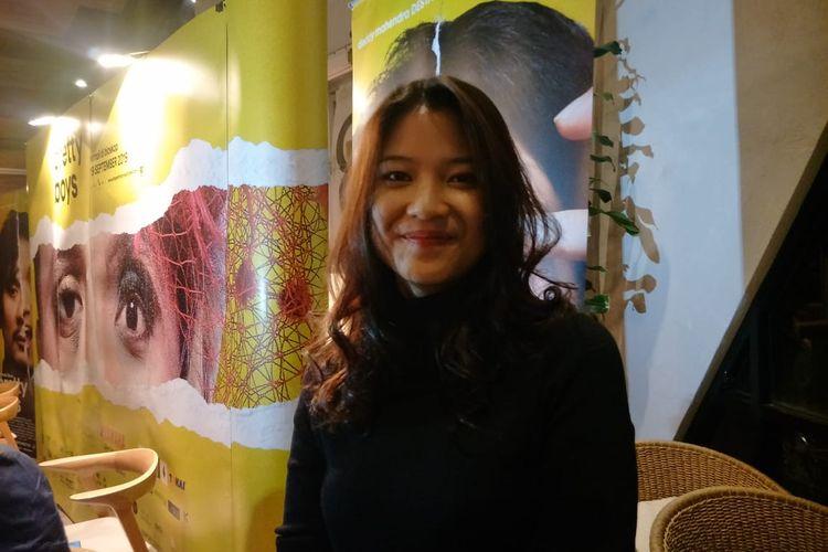 Danilla Riyadi dalam jumpa pers syukuran 500 ribu penonton film Pretty Boys di Ecology Kemang, Jakarta Selatan, Senin (30/9/2019)