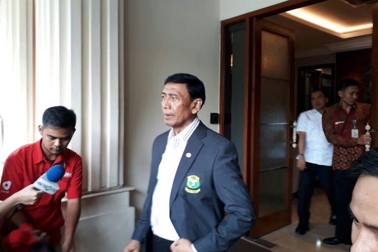 Menteri Koordinator Politik Hukum dan Keamanan Wiranto, Selasa (3/10/2017)