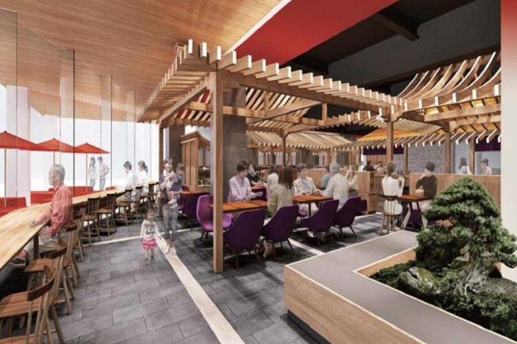 EDOCCO CAFE adalah kafe pada malam hari dan sebuah izakaya pada malam hari