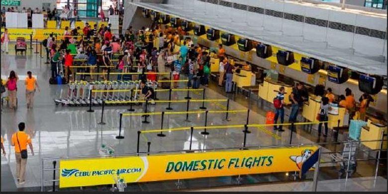 Suasana di Bandara Ninoy Aquino International Airport