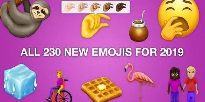 Ilustrasi Emoji baru 2019