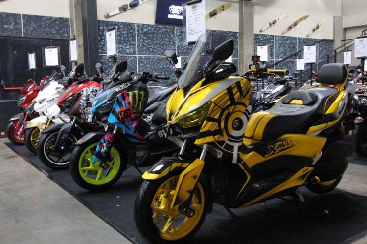 Tren modifikasi Yamaha Maxi Scooter di Makassar, rata-rata berpindah haluan dari motor pajangan jadi motor harian.