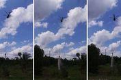 Helikopter 'Bergeluduk', Tumpahkan Air Jelang Puncak Kemarau