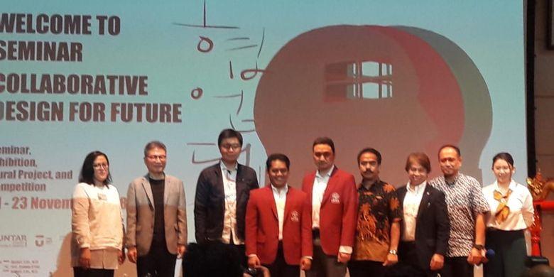 Dalam rangka ulang tahun ke-24, Fakultas Seni Rupa dan Desain (FSRD) Untar mengadakan kegiatan pameran dan seminar bertema ?Collaborative Design for Future? 21-23 November 2018.