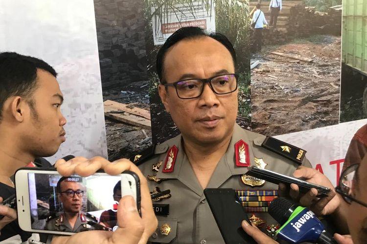 Kepala Biro Penerangan Masyarakat (Karo Penmas) Divisi Humas Polri Brigjen Dedi Prasetyo di Gedung Bareskrim Mabes Polri, Jakarta Selatan, Selasa (6/8/2019).
