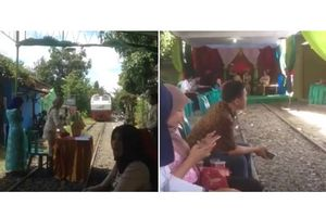 Viral Video Pesta Pernikahan di Rel KA, Apa Kata PT KAI?