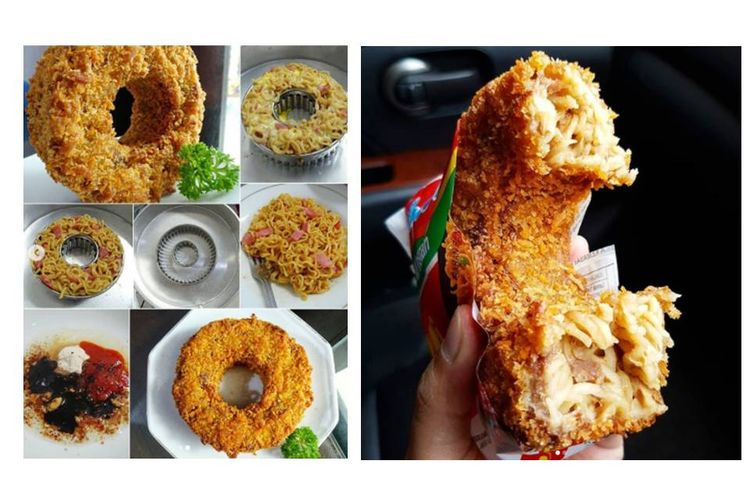 Donat mi yang dibuat oleh seorang pengguna Instagram, @nawang_okta. Ia membagikan resep dan cara membuatnya. Penasaran?