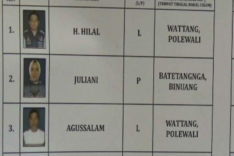 Caleg mantan koruptor akhirnya dicoret dari daftar DCS oleh KPU Polewali Mandar, Sulawesi Barat.