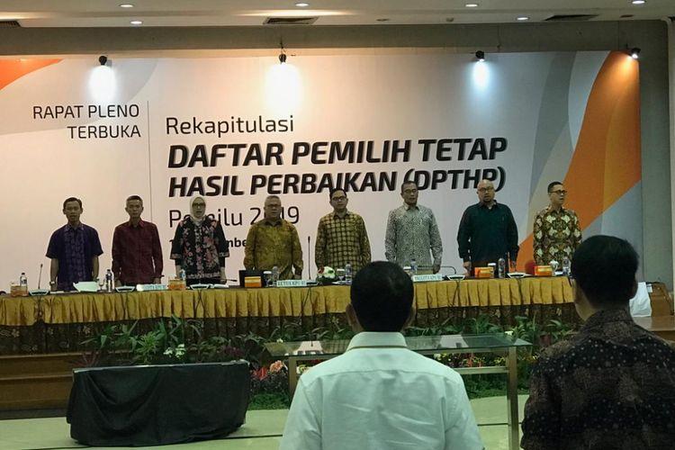 KPU Gelar Rapat Pleno Perbaikan DPT Pemilu 2019