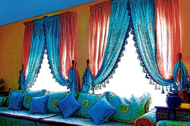 Ilustrasi: interior bergaya Maroko