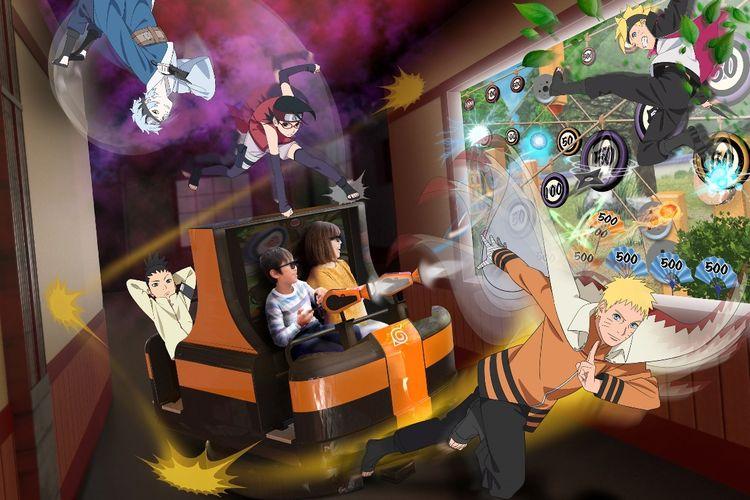 Naik 3D Shooting Ride Kagaku Ningu Doko untuk mengasah keterampilan ninja di dalam dirimu!