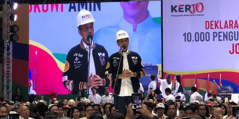 Jokowi dalam Deklarasi Pengusaha Pekerja Pro Jokowi (Kerjo)