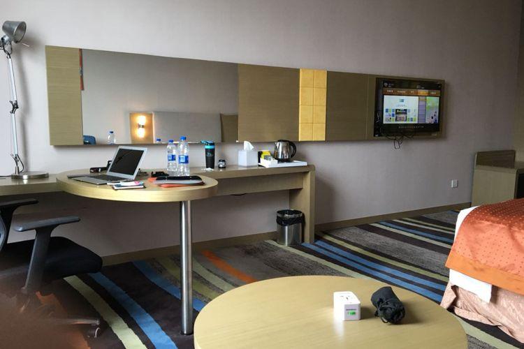 Salah satu kamar di hotel Holiday Inn Express di Guangzhou, Provinsi Guangdong, Republik Rakyat Tiongkok (RRT), Minggu (12/8/2018).