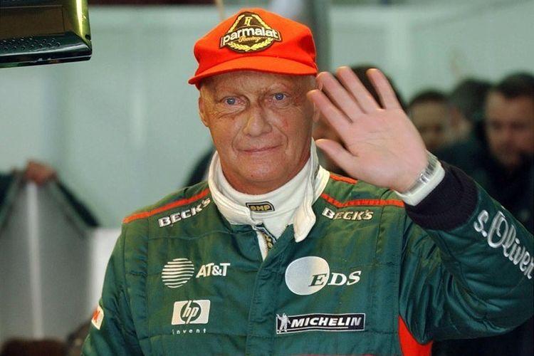 Niki Lauda saat masih menjadi bos tim F1 Jaguar, 13 Januari 2002. Mantan juara dunia Formula 1 asal Austria itu meninggal dunia dalam usia 70 tahun, 20 Mei 2019.