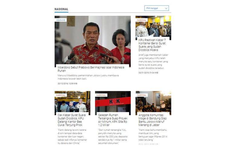 Halaman Nasional Kompas.com