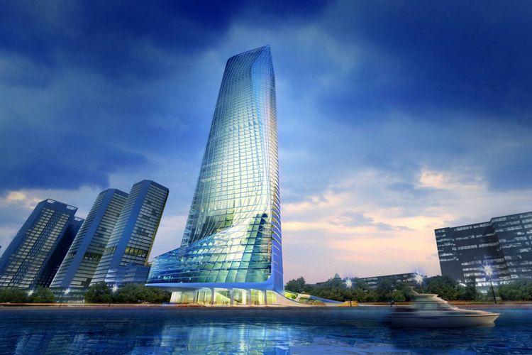 Nile Tower akan berdiri di lahan seluas 120.000 meter persegi. (Zaha Hadid)