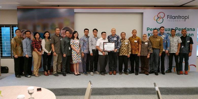 13 lembaga filantropi pendidikan bersama-sama menyusun dan meresmikan Piagam Klaster Pendidikan bertempat di Kantor Tanoto Foundation, Jakarta (20/6/2019).