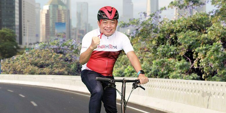 Bantu Pengobatan Warga, Dirut Telkom Galang Dana Lewat Bersepeda