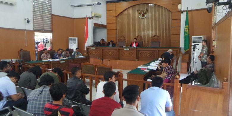 Sidang praperadilan yang diajukan Setya Novanto di Pengadilan Tipikor Jakarta, Jumat (8/12/2017).
