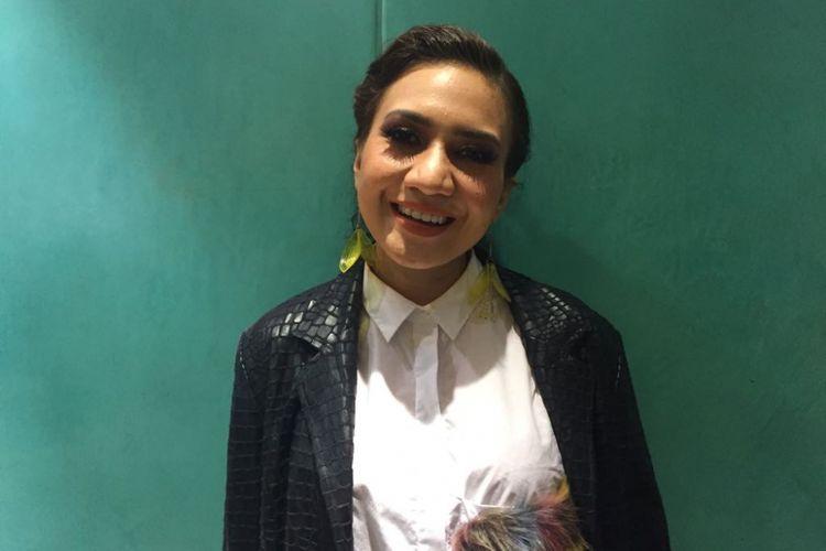 Abby Galabby menjadi pelakon dalam pertunjukan drama musikal Petualangan Sherina yang digelar di Teater Jakarta, Taman Ismail Marzuki (TIM), Jakarta Pusat pada Minggu (17/9/2017) sore.