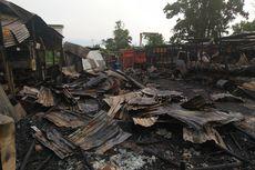 Dua Bangunan Bengkel Terbakar, 6 Truk Hangus Dilalap Api