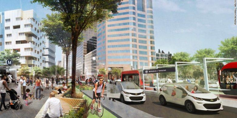 Konsep desain perbaikan kota ala Lyft.