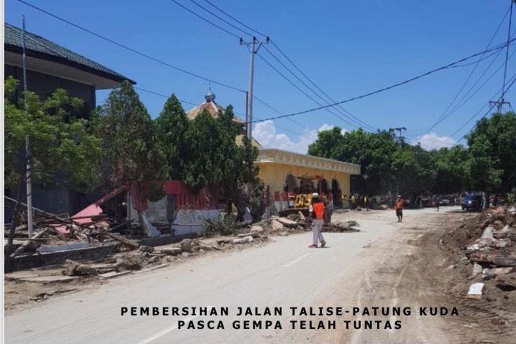 Kondisi lokasi bencana alam di Palu, Sulawesi Tengah.