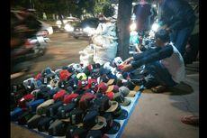 PKL Okupasi Trotoar Sudirman Dekat Halte Benhil