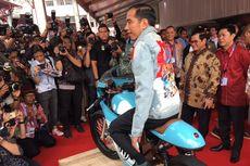 Jokowi Mampir ke Area Motor Kustom di IIMS 2018