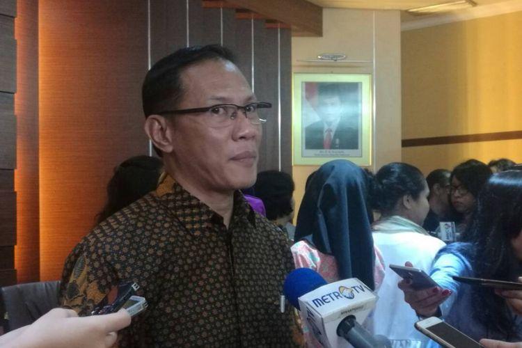 Kepala BPS Suhariyanto di Kantor BPS, Jakarta, Jumat (2/6/2017)