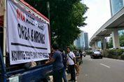 Ada Demo di Depan Gedung Granadi, Lalu Lintas Terpantau Lancar