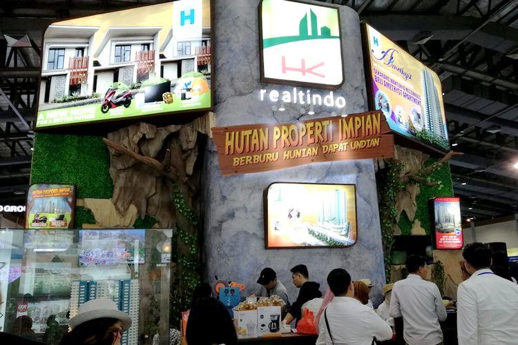 Anjungan Hutama Karya Realtindo di Indonesia Proeprti expo 2019, JCC Senayan, Jakarta.