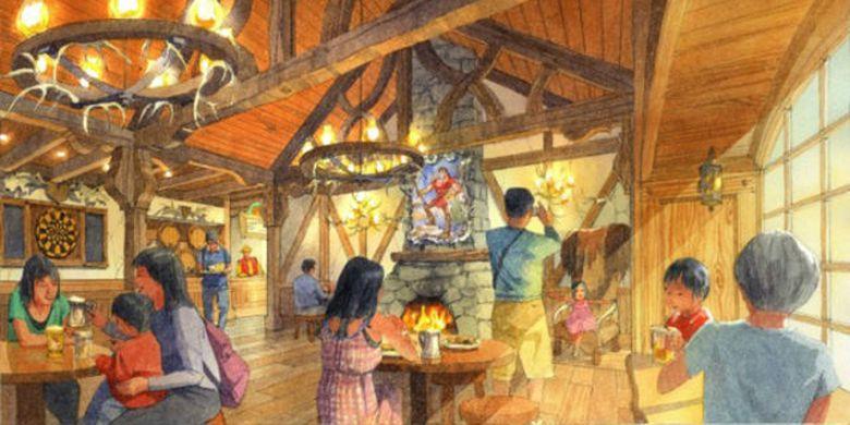 La Taverne de Gaston menawarkan atmosfer yang mirip dengan filmnya.