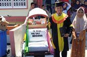 Kisah Hamzah, 8 Tahun Kayuh Becak Pakai Topeng hingga Berhasil Jadi Sarjana