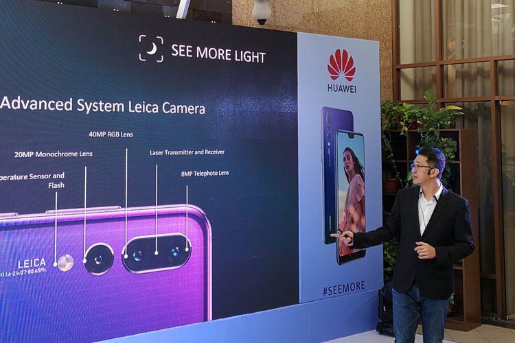 Peluncuran Huawei P20 Pro di Jakarta, Kamis (28/6/2018).