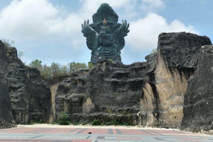 Obyek wisata Garuda Wisnu Kencana (GWK) yang terletak di kawasan GWK Cultural Park, Bukit Ungasan, Kabupaten Badung, Bali.
