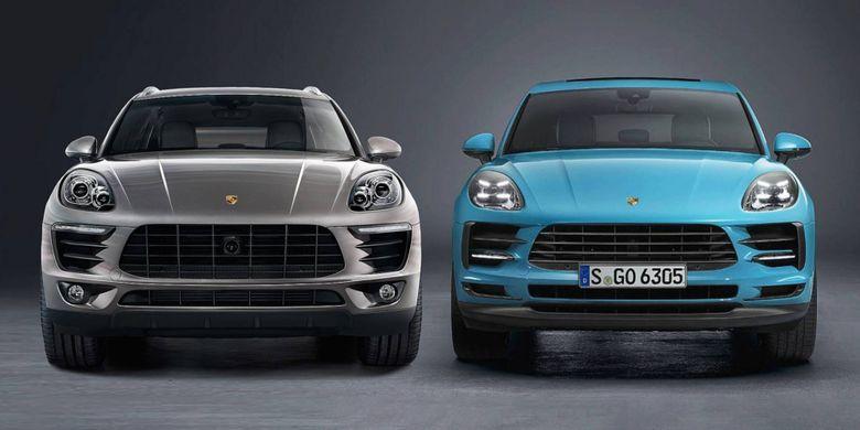 Porsche Macan lawas dan baru.