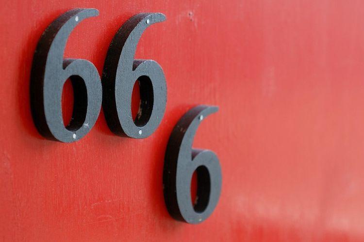 Ilustrasi angka 666