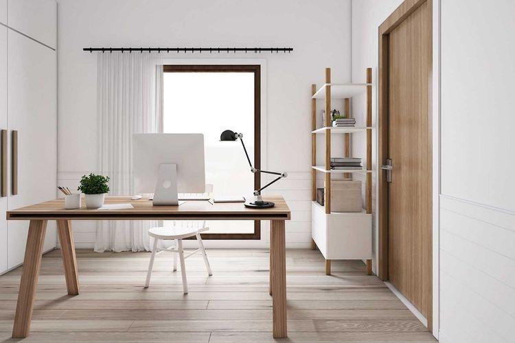 Ruang kerja bergaya Scandinavian karya La.casa